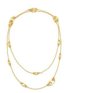 NEW 16K Gold Tory Burch Gemini Necklace
